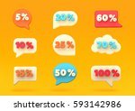 percent discount number bubbles ... | Shutterstock .eps vector #593142986