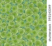 seamless pattern with green... | Shutterstock . vector #593143349
