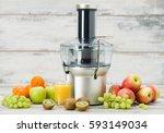 modern electric juicer  various ...   Shutterstock . vector #593149034