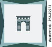 arch  vector icon. | Shutterstock .eps vector #593150378