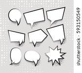 comic speech set balloon on... | Shutterstock .eps vector #593150549