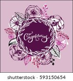 hand drawn banner with... | Shutterstock .eps vector #593150654