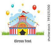 circus tent  vector... | Shutterstock .eps vector #593151500