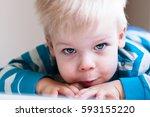 Close Up Portrait Of Little ...
