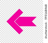 left arrow icon. vector....