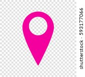 map pointer sign. vector.... | Shutterstock .eps vector #593177066