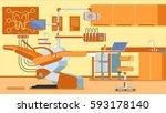 dentist office illustrations | Shutterstock .eps vector #593178140