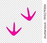 bird footprint sign. vector.... | Shutterstock .eps vector #593179304