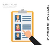 human resource choose people... | Shutterstock .eps vector #593182268
