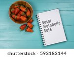 concept image  strawberry with... | Shutterstock . vector #593183144
