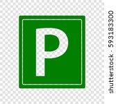 parking sign illustration.... | Shutterstock .eps vector #593183300