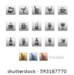 drinks icons   the vector file... | Shutterstock .eps vector #593187770
