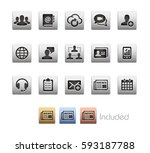 business network icons   the... | Shutterstock .eps vector #593187788