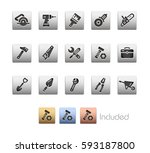 tools icons   the vector file... | Shutterstock .eps vector #593187800