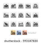 car service icons   the vector... | Shutterstock .eps vector #593187830