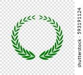 laurel wreaths sign. vector.... | Shutterstock .eps vector #593191124