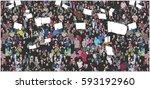 illustration of crowd... | Shutterstock .eps vector #593192960