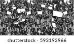 illustration of crowd... | Shutterstock .eps vector #593192966