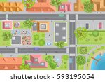 vector illustration. city top... | Shutterstock .eps vector #593195054