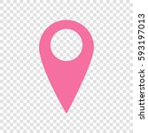 map pointer sign. vector.... | Shutterstock .eps vector #593197013