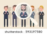 business people are candidates...   Shutterstock .eps vector #593197580