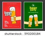 beer party poster or flyer...   Shutterstock .eps vector #593200184