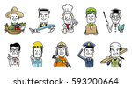 people group different... | Shutterstock .eps vector #593200664