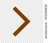 right arrow icon. vector. brown ...