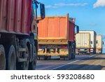 trucks and dump trucks go on