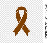awareness ribbon sign. vector.... | Shutterstock .eps vector #593212760