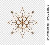 mandala sign illustration.... | Shutterstock .eps vector #593213879