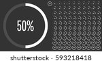 set of circle percentage... | Shutterstock .eps vector #593218418