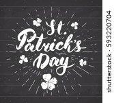 happy st patrick's day vintage... | Shutterstock .eps vector #593220704