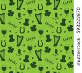 st patrick's day hand drawn... | Shutterstock .eps vector #593222870