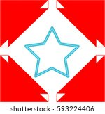 abstract with a star | Shutterstock .eps vector #593224406