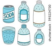 vector set of soda | Shutterstock .eps vector #593224730