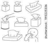 vector set of tissue box | Shutterstock .eps vector #593225336