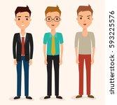 business man character in job.... | Shutterstock .eps vector #593225576