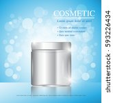 cosmetic ads template ... | Shutterstock .eps vector #593226434