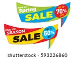 sale label price tag banner... | Shutterstock .eps vector #593226860