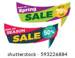 sale label price tag banner... | Shutterstock .eps vector #593226884