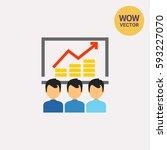 report flat icon | Shutterstock .eps vector #593227070