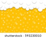 beer background with foam and... | Shutterstock .eps vector #593230010