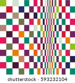 geometric colorful pattern... | Shutterstock .eps vector #593232104