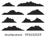 mountains silhouettes on the... | Shutterstock .eps vector #593233529