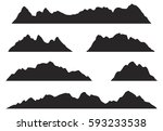 mountains silhouettes on the... | Shutterstock .eps vector #593233538