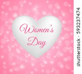 happy women's day card with... | Shutterstock .eps vector #593237474