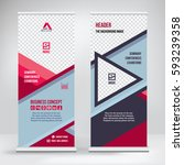 banner roll up vector  red... | Shutterstock .eps vector #593239358