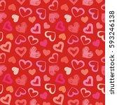 love theme hearts valentine's... | Shutterstock . vector #593246138