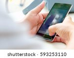 people using mobile devices | Shutterstock . vector #593253110